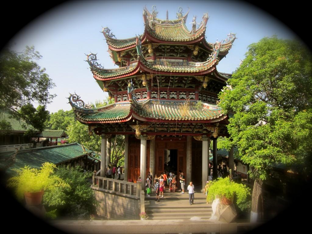 El templo budista en Xiamen, China.