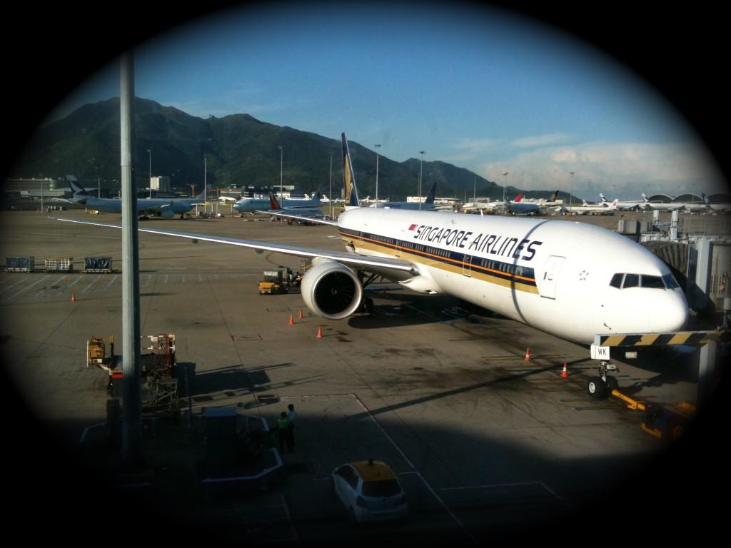 Mi avión a Hong Kong...buen servicio!