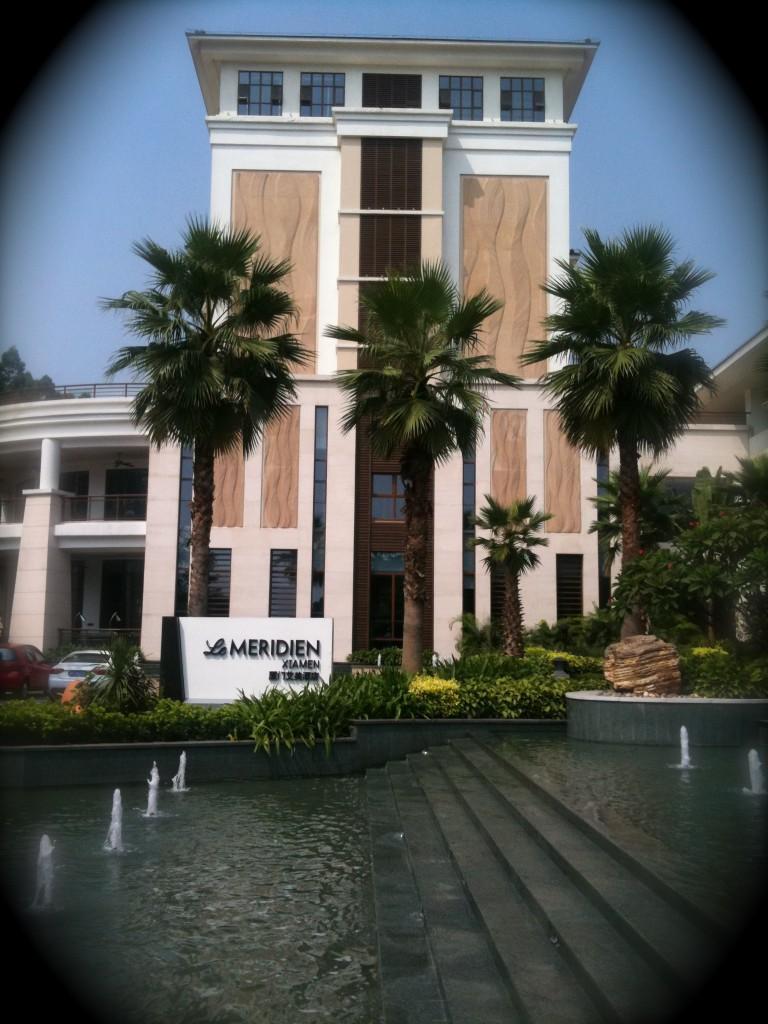 Nuestro hotel...Le Meridien en Xiamen, China.
