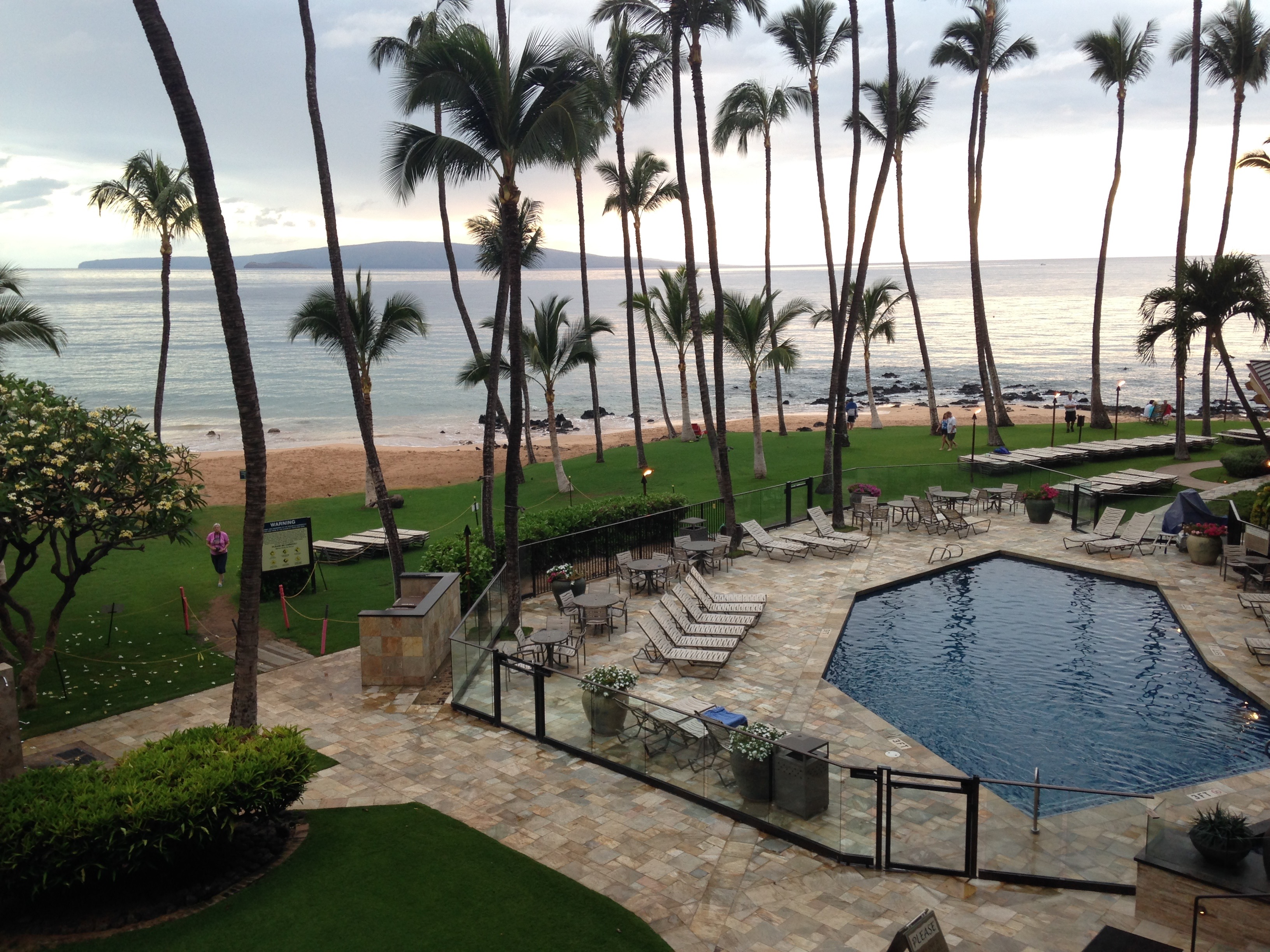 5. The patio of our hotel room in Maui (2015)